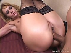 Lustful Blonde Gets Her Mature Butthole Creampied