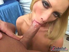 Busty Blonde MILF Gobbling Up POVs Dick