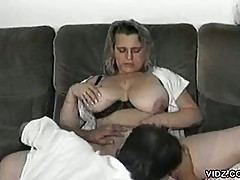 Megaboobed mature whore and a luscious dick