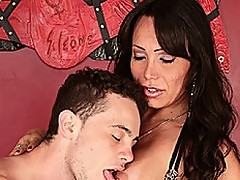 Tranny Milf Swallows Her Mans Hot Cream