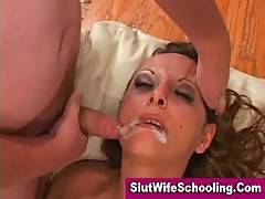Cum swallowing housewife