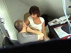 Sexy european amateur milf with husband