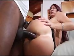 Redhead fucked up her big fat ass