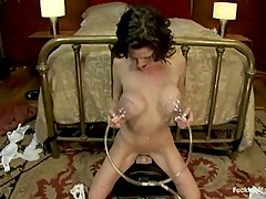 Veronica Avluv Part 3 of 5 Our Squirting MILF rains on the Sybian