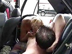 Older woman fucked in car – British