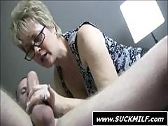 Blonde Granny Gives A Hot Pov Blowjob And Hand Job Stroking It Till It Cums