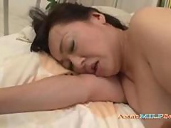 Fat Milf Getting Her Mouth And Hairy Pussy Fucked By Young Guy On The Bed In The Bedroo
